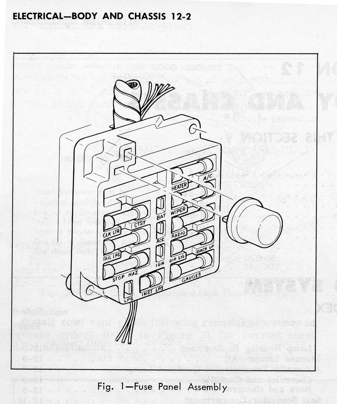 1967 camaro fuse box schematic
